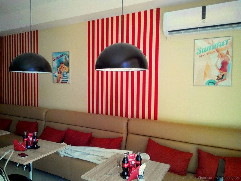 декор интерьера кафе в Сочи