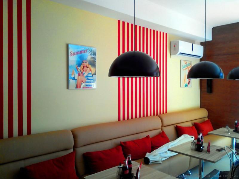 декорирование интерьера кафе