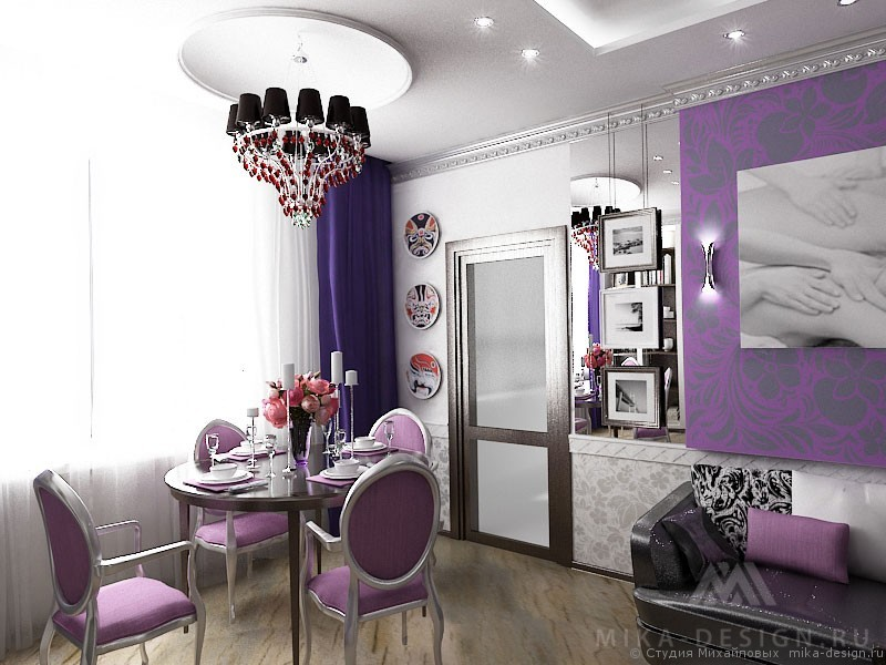 оформление гостиной в стиле ар-деко