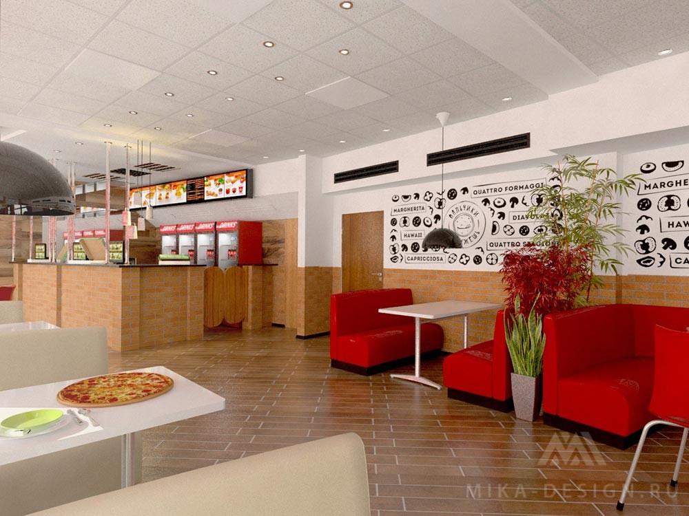 пиццерия интерьер