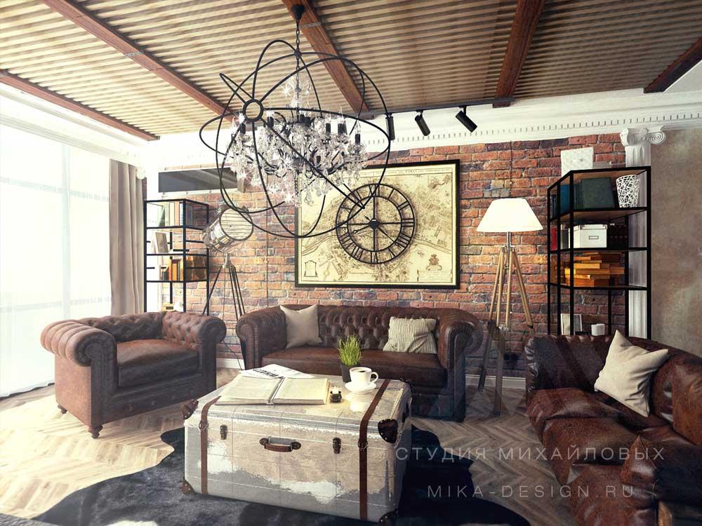 серые интерьеры гостиная