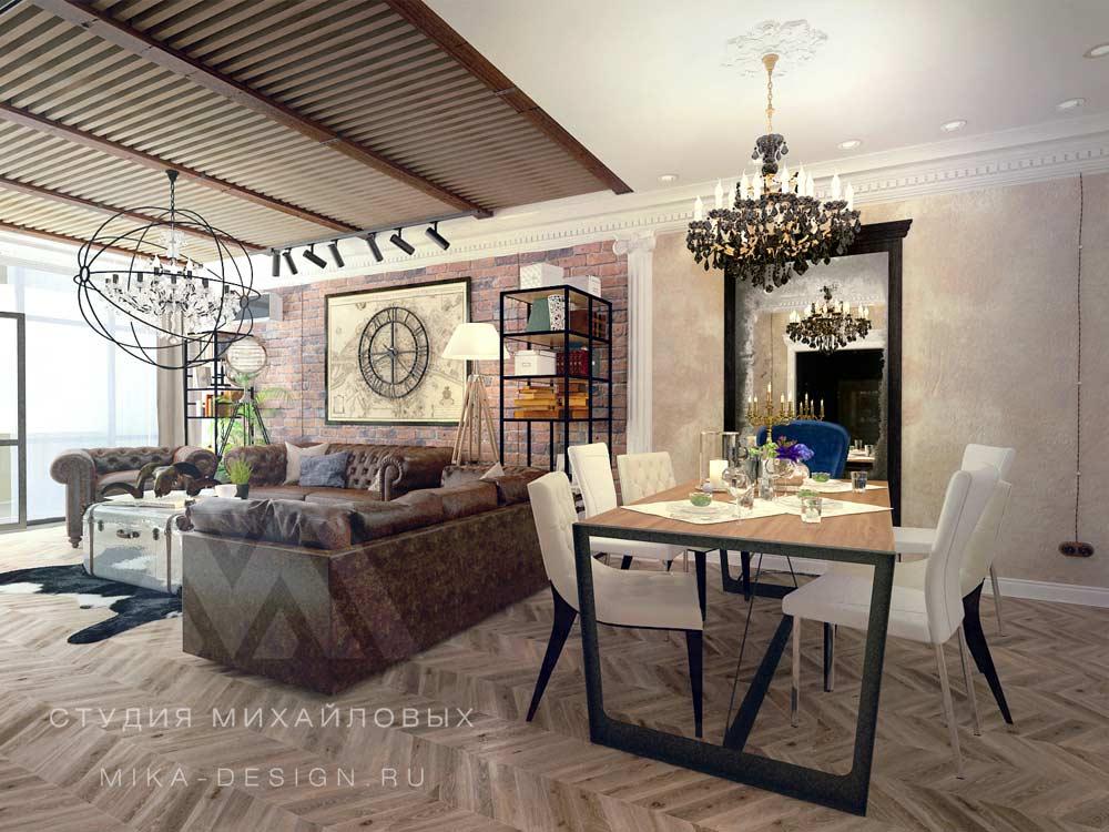 серый цвет +в гостиной