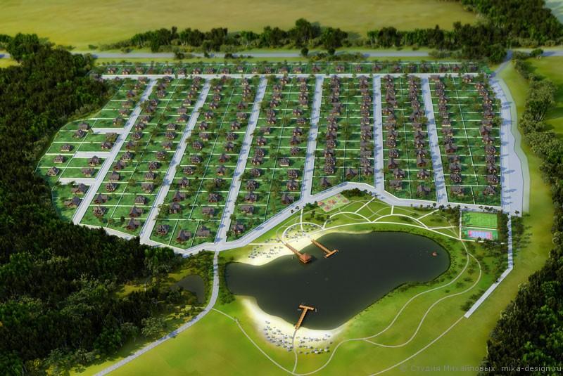 визуализация посёлка