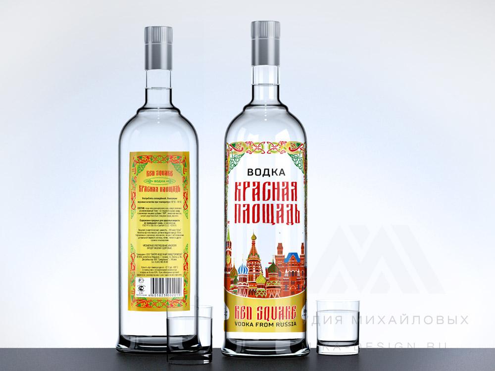 дизайн этикетки водки