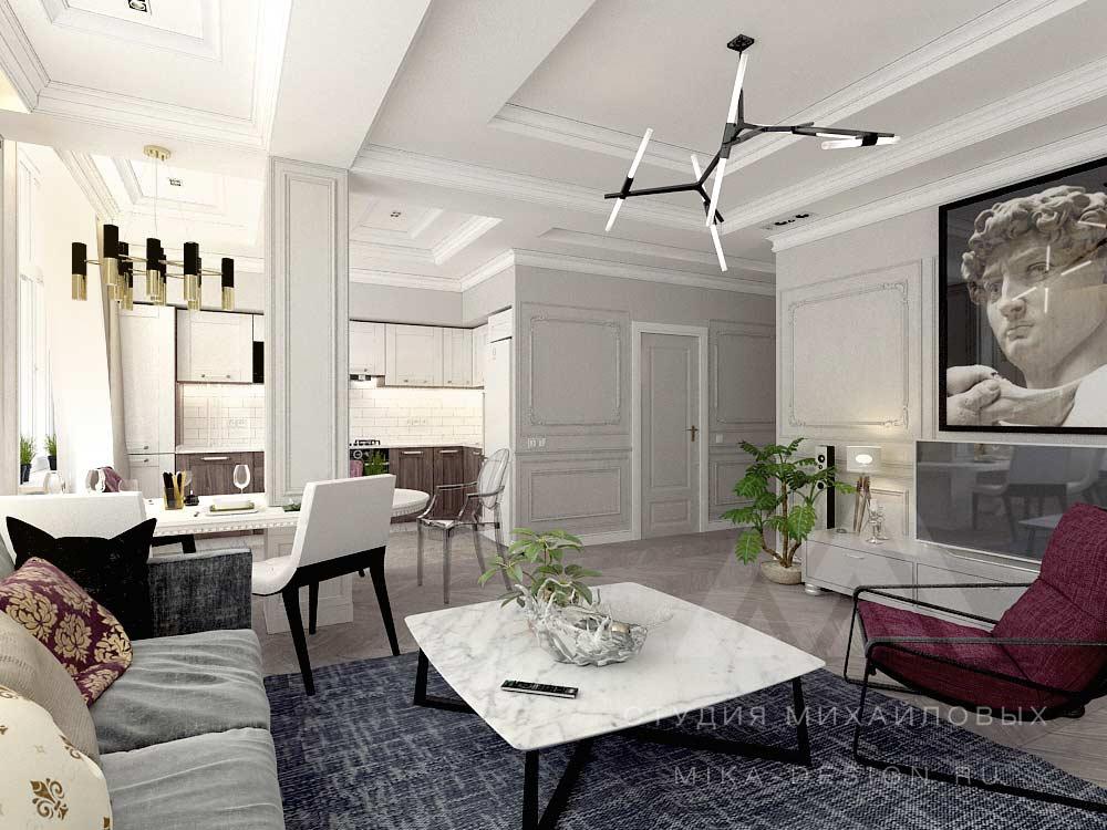 дизайн квартиры современная классика