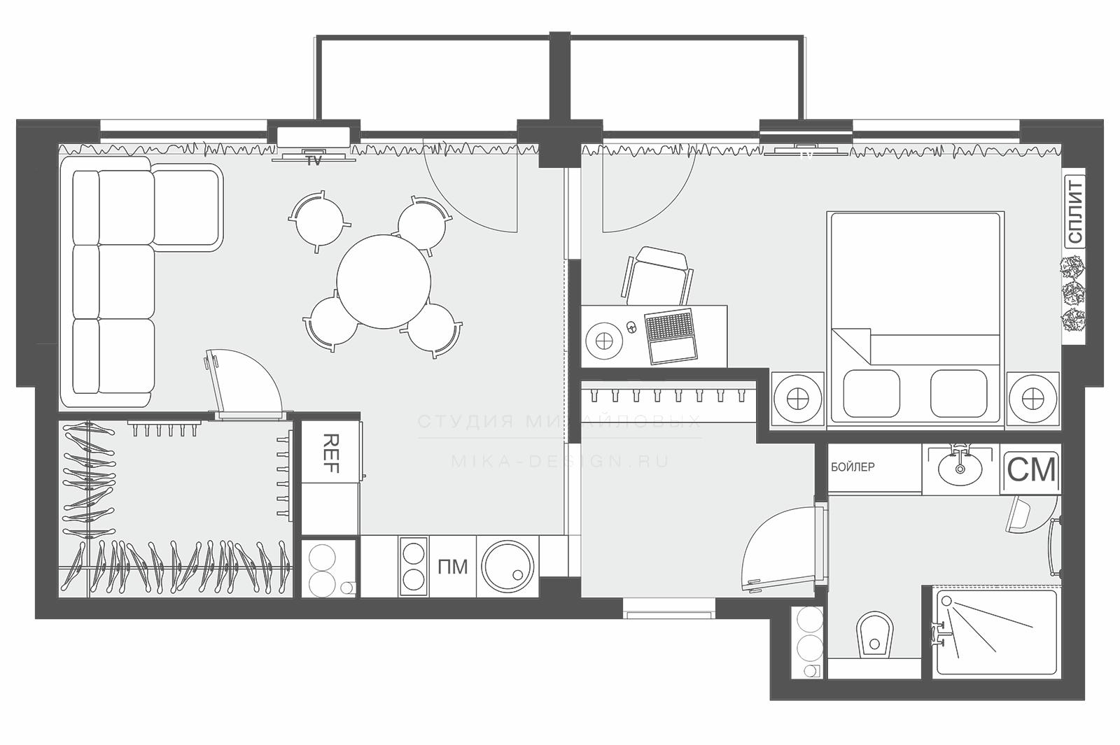 недорогой дизайн проект квартиры