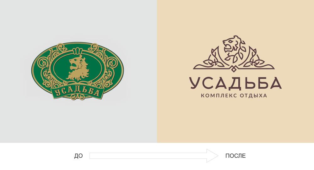 редизайн логотипа усадьба